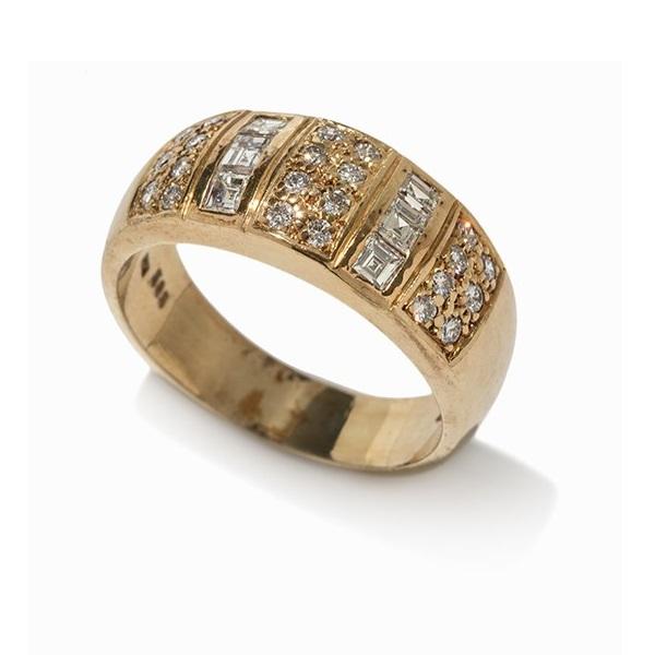 eleganter diamantring 14 karat gelbgold leeb. Black Bedroom Furniture Sets. Home Design Ideas