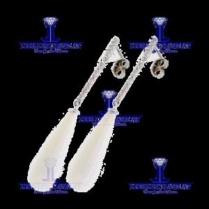 Diamantohrringe mit Quarzpendel LG299