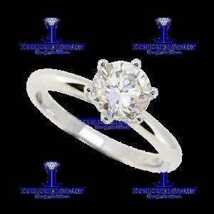 Solitarring Diamant Verlobungsring 307