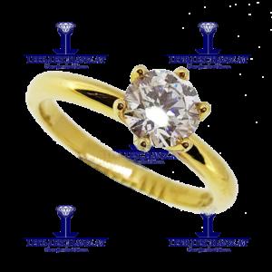 Solitarring Diamant Verlobungsring 309
