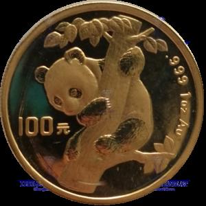China Panda 1 Unze Gold €uro