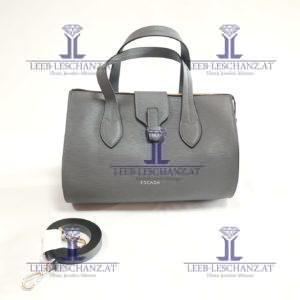 ESCADA Shoulder Bag Gray EPI