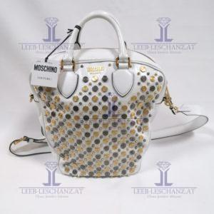 Moschino Couture White Leather Bag