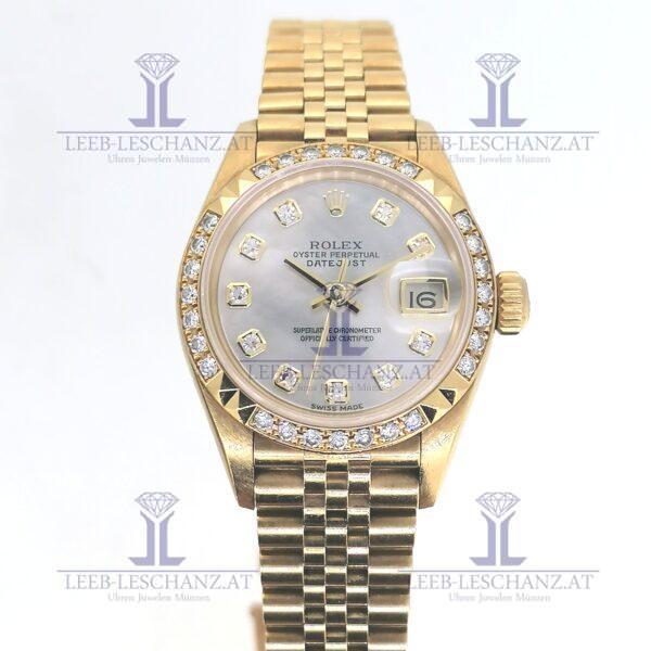 Rolex DateJust 28 69268 mit Originalbesatz