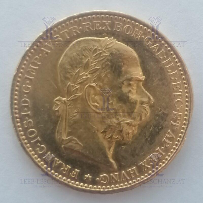20 Kronen Gold 900/0001893 Coronen 20