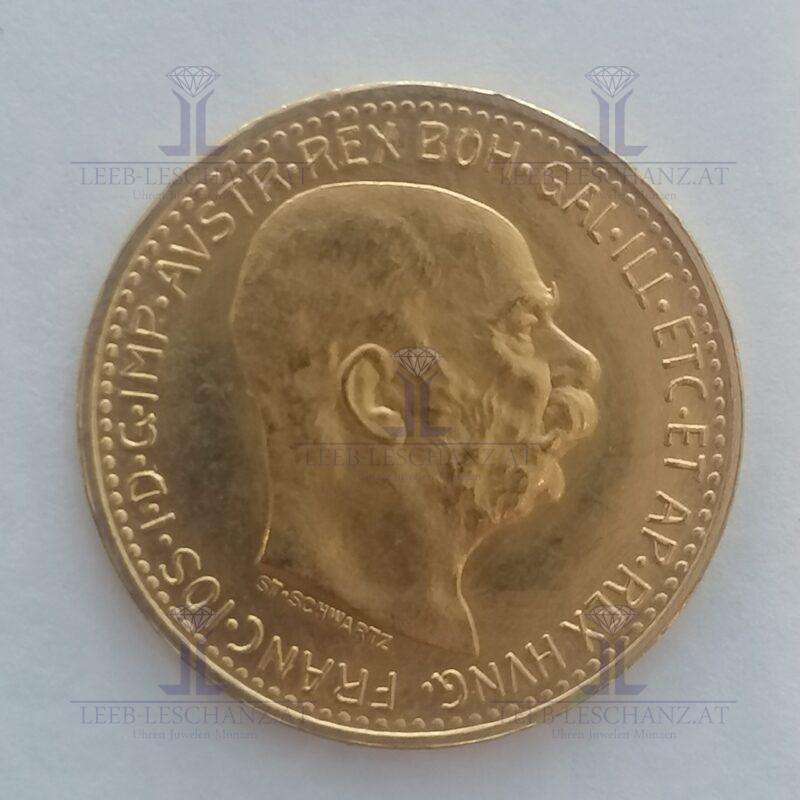 10 Kronen Gold 900/000 10 Corona